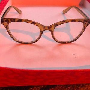 👓 Cat Eye Leopard Print Eyeglasses 👓
